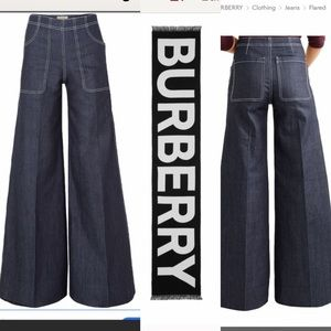 🥳HP🥳Burberry high rise wide leg jeans